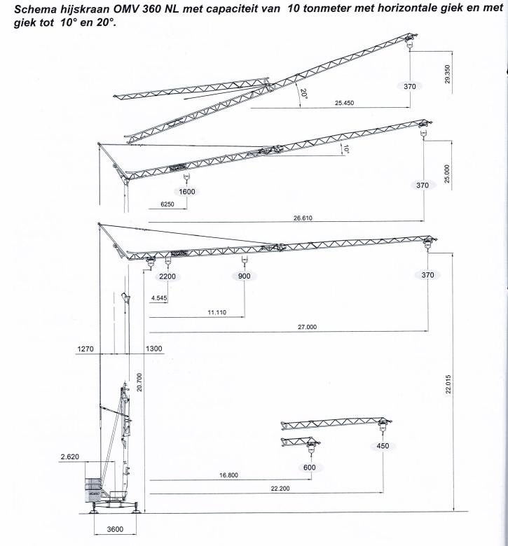 bouwkraan 27 meter