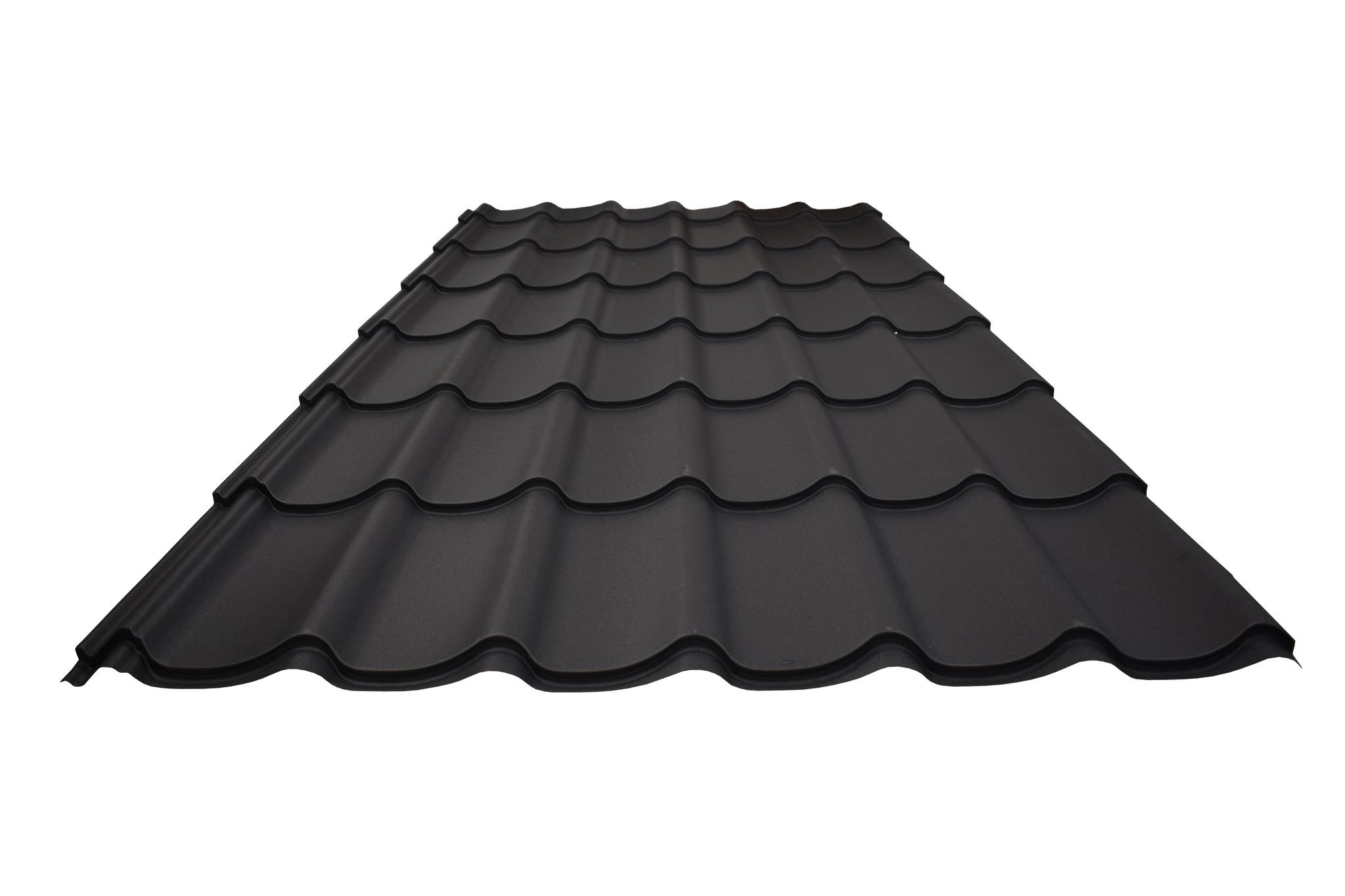 dakpanplaat-mat-zwart